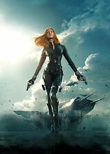 Captain America The Winter Soldier Movie Poster (24x36) Black Widow, Scarlett v8