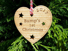 """Bump's 1st Christmas"" Tree Decoration Bauble: First Heart Pregnancy Decoration"