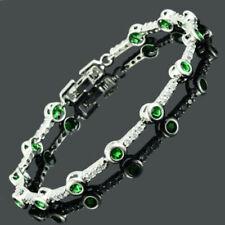 Modeschmuck-Armbänder im Tennis-Stil mit Smaragd für Damen