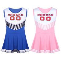 Sissy Men's Cheerleader Cosplay Costume Dress Role Play Uniform Halloween Party