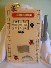 RARE HUGE HVY 5 Cent Slot Machine Cribbage Board Mills Bell Fruit Gum 1910 Reel