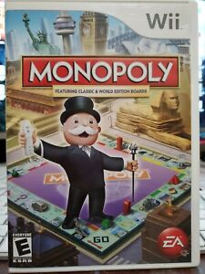 Monopoly Nintendo Wii/Wii U Complete with Game/Case/Manual