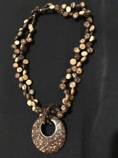 Ethnic Statement Necklace Costume Jewellery Necklace Coconut Shell