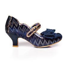 Irregular Choice 'Summer Breeze' (K) Blue Mid Heel Bow Shoes