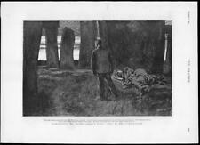 1891 ANTIQUE PRINT-Illustration Thomas Hardy Novel Tess d'uberville (122)