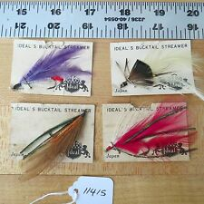 New listing Vintage Ideal Bucktail Streamer fly fishing lures (lot#11415)