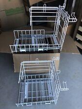 2 Lot Metal T Shirt Grocery Store Shopping Bag Holder Rack Sliding Mountable New