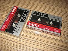 2 AGFA F-DXI Ferro 60 Cassette für Walkman . OVP