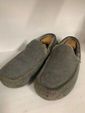 UGG Australia Ascot Mens Size 14 Gray Wool Slip On Moccasins Lined Slipper 3233