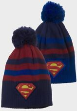 Boys Girls Kids Official Superman Winter Bobble Hat One Size 4-8 Years