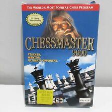 Chessmaster 9000 Windows PC CD-Rom w/ Box, Discs, Manual CIB UbiSoft