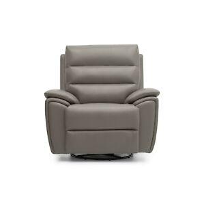 La-Z-Boy UK Willow Power Swivel Chair - cover Slate Leather MRP £1,579