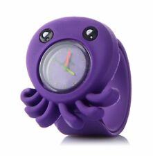 Quality Purple Octopus Girls Boys Kids Wrist Watch Easy Strap Slap wristwatch