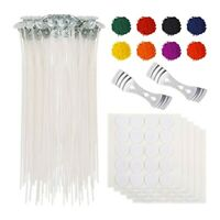 1X(210 Pcs Diy Candle Making Kit Supplies Wax Candle Dye Wicks Sticker Wic E2B2