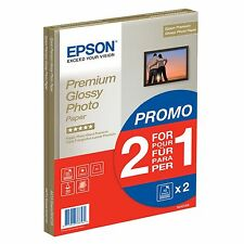 Bundle: Epson (A4) Premium Glossy Photo Paper (2 x 15 Sheet Pack)