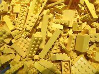 LEGO 100 Teile GELB Steine Platten Sondersteine, Sammlung Konvolut Bauteile kg