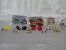 Vintage 20th Century Costume Jewelry Pierced Earring Lot 15 Pair