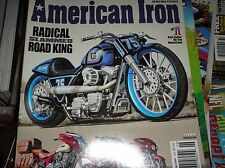 AMERICAN IRON  magazine  #349  2017   INDIAN's new classic lines , HARLEY   J-13