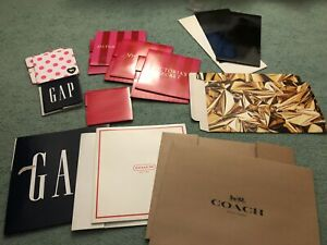 Lot of 11 various store paper gift boxes (H&M, Victoria's Secret, etc.)