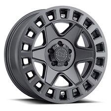 17 inch 17x8 Black Rhino York Gunmetal wheel rim 5x120 +35