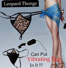 Sexy Women Lady Underwear Leopard Panties G-String Thong Pants for Vibrator New