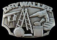 Drywaller Construction Worker Tools Equipment Belt Buckle Boucle De Ceintures