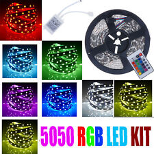 5 m 5050 SMD RGB 300 DEL Bande Lumière alimentation 24 Key IR Remote Controller Kit