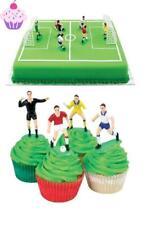 Birthday Cake Topper Plastic Football Decorations Picks Soccer