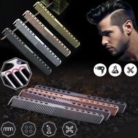 Metal Aluminum Cutting Comb Hairdressing Barbers Salon Combs Quality Tool 3Color