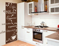 Coffee Types Decorative Strip - Wall Decal Stickers