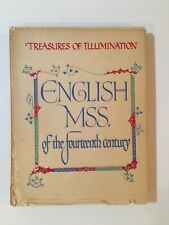 English Manuscripts Of The 14th Century By Reverend Canon Harrison, 1937 Illust