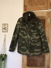 Topshop Camo Jacket Size 10