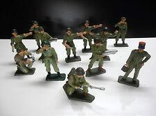 RARE Lots de 12 figurines Starlux soldats français TBE