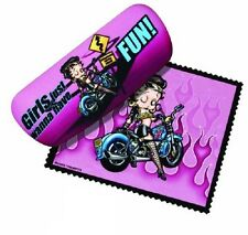 Betty Boop Eyeglass Case with Cleaning Cloth - Biker Betty