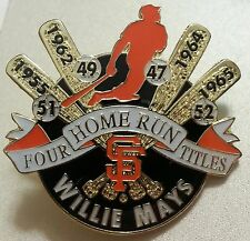 Willie MAYS 4 Home Run Titles Lapel Pin - S.F. GIANTS