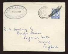 MARITIME 1967 MARTINIQUE GB WILDING 4d CANCELLED PAQUEBOT...SHIP RMS ANDES