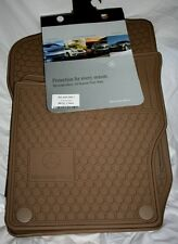 2006 to 2011 Mercedes Benz ML350 Rubber Floor Mats - FACTORY OEM ITEMS -BEIGE