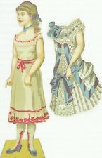 1880's-90's Lovely Girl Paper Doll & Dress Toy Set Victorian PD30