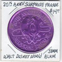 Token - Walt Disney World - 20th Annual Surprise Parade - 38 MM Aluminum