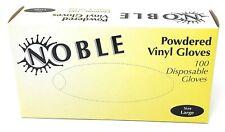 Noble Vinyl Gloves Large Powdered 100/bx Free S&H