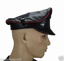 Angebot Biker Mütze Schirmmütze,Kappe Hut,Offizier Mütze,Leather Muir cap