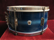VTG 1941 WFL-Ludwig Streamlined Swing Special 7X14 Snare Drum Blue Duco Beauty!