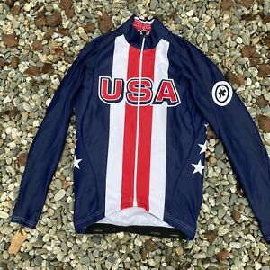 Assos Team USA Cycling Thermal Long Sleeve Jersey XS Track Road Bike Race MTB