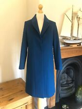 Jaeger Teal Wool Uniquely Tailored Classic Coat , Size UK 8 RRP £ 399
