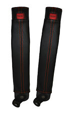 Orange stitch 2x ceinture peau couvre fits TOYOTA LAND CRUISER PRADO lj78 / LJ70