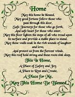 House Blessing Poster Page Pagan New Age Goth Spirit Soul Goth Magic Prayer Home