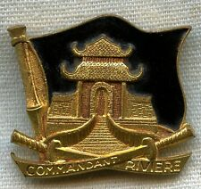 """1962 French Naval Badge for the Frigate """"Commandant Rivière"""""""