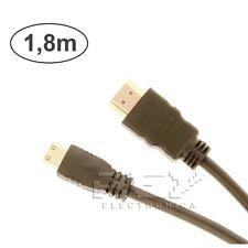 CABLE Mini HDMI a HDMI 1.4 Full HD 1080p 1.8 m adaptador conversor Negro v75