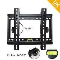 Ultra Slim LED LCD Plasma Fixed VESA TV Tilting Bracket Wall Mount 14 to 32 Inch