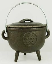NEW Medium Pentagram Cast Iron Cauldron FREE SHIPPING